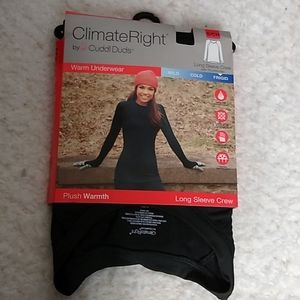 Climate Right Cuddl Duds Long Sleeve Crew Size S
